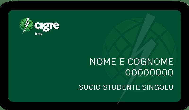 Socio Studente Singolo - CIGRE Italia